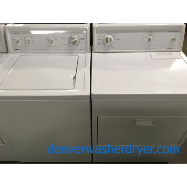 Heavy-Duty Quality Refurbished Kenmore 27″ Direct-Drive Top-Load Washer & Electric Dryer, 1-Year Warranty