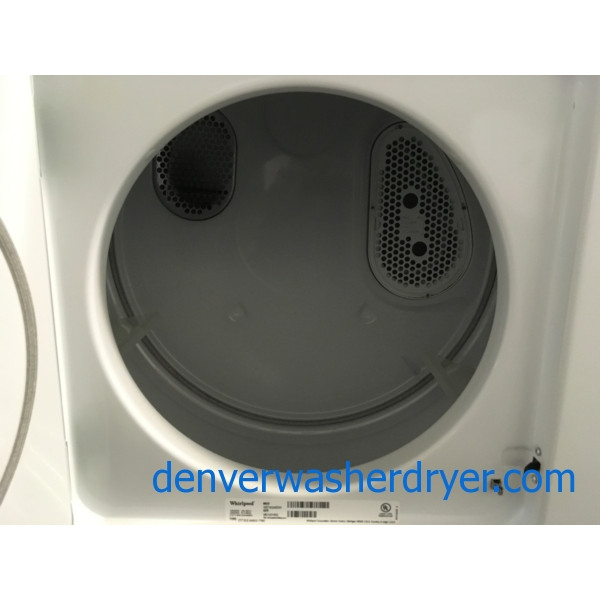 Near-New Whirlpool Unitized Washer/Dryer Combo, 24″ Wide, Electric, Direct-Drive, 1-Year Warranty!