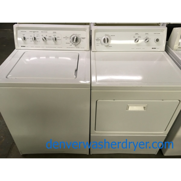 Heavy-Duty Direct-Drive Washer, Electric Dryer, Kenmore 90 Series Set, Built-To-Last, Quality Refurbished, 1-Year Warranty!