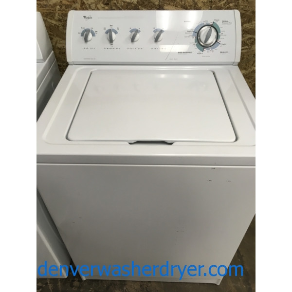 Heavy-Duty Quality Refurbished Whirlpool Top-Load Direct-Drive Washer, 1-Year Warranty