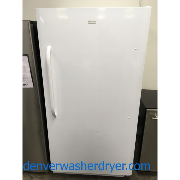 34″ Frigidaire Upright Freezer, 16.6 Cu. Ft., 1-Year Warranty