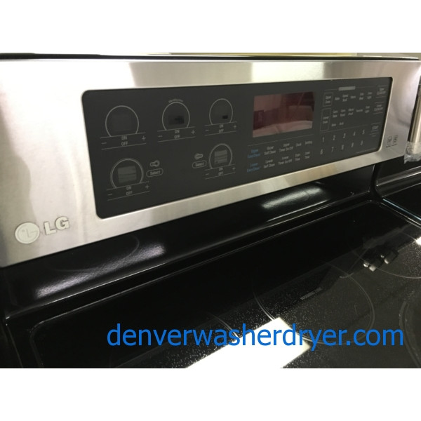30″ Free-Standing LG Electric Double-Oven Range, 1-Year Warranty