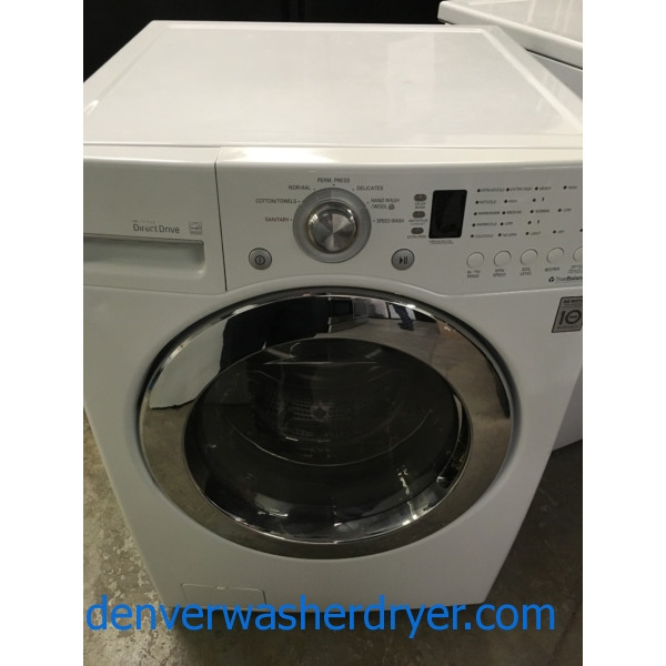 27″ LG Stackable Front-Load Washer, 1-Year Warranty