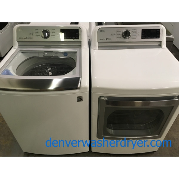 Brand New LG Top-Load HE Direct-Drive Washer, *GAS* HE Dryer, Mega Capacity, 1-Year Warranty