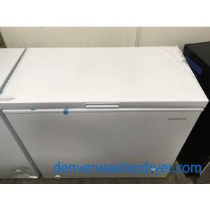 Brand-New Chest Freezer, 7 Cu. Ft., Insignia, White, Cosmetic Damage