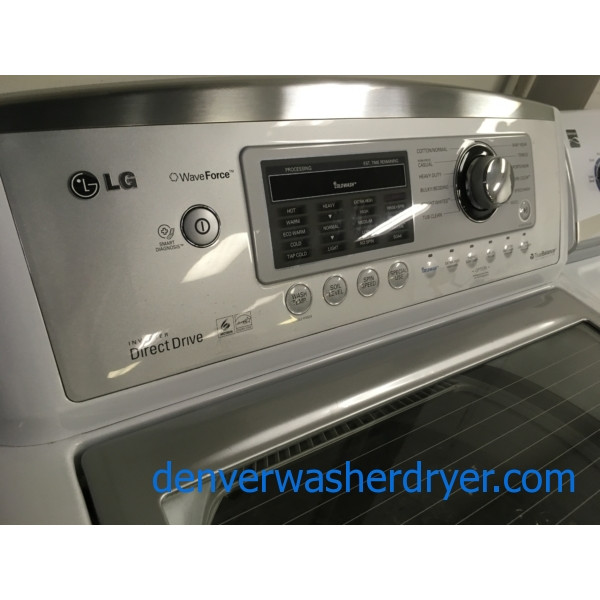 LG Top-Load HE Washing Machine, Direct-Drive, Energy Star, 4.5 Cu. Ft., White, 1-Year Warranty!