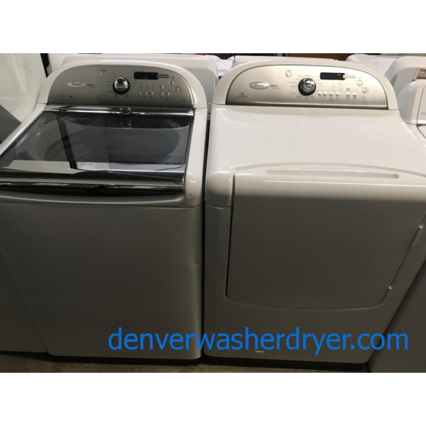 Direct-Drive HE Whirlpool Laundry Set, *GAS*, Quality Refurbished, 1-Year Warranty!