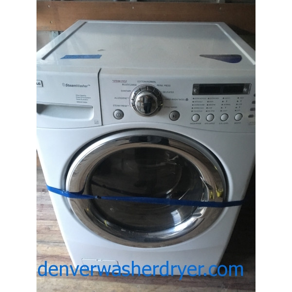 LG Front-Load Washer, White