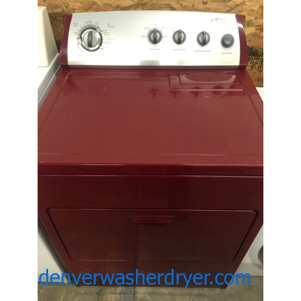 Red Hot Whirlpool Dryer, 220V, 29″