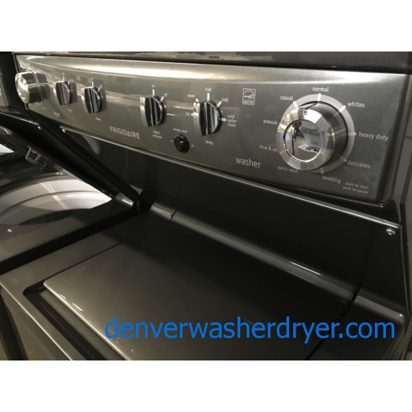 Full-Sized, 27″, Unitized, HE, Slate, 220V, Frigidaire Stacker, Quality Refurbished, 1-Year Warranty!