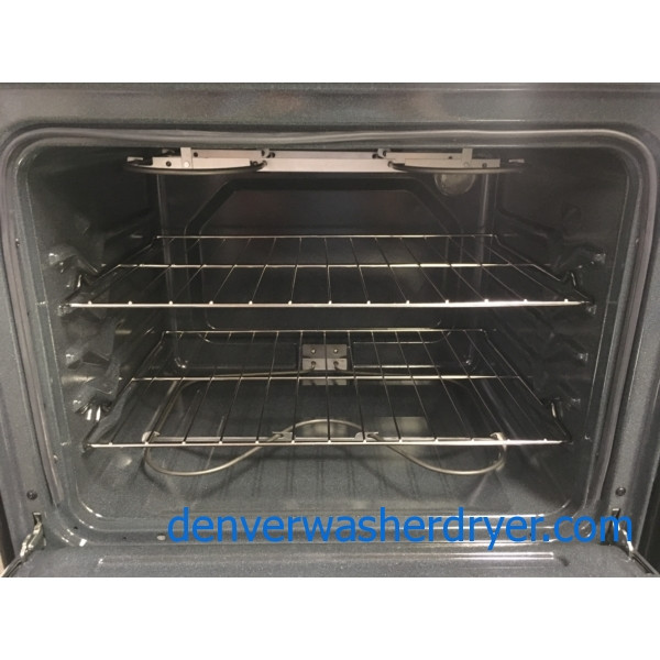 New! Whirlpool Glass-Top 30″ Stainless Electric Range, 1-Year Warranty!