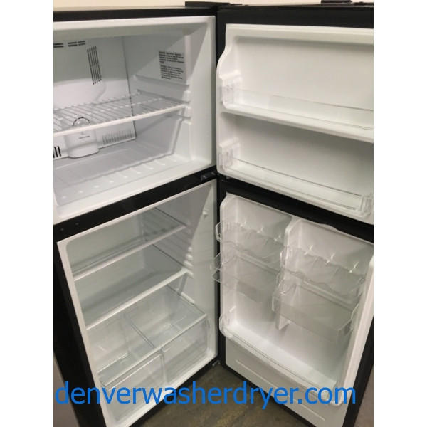 Beautiful Black Magic Chef Refrigerator, Quality Refurbished, 1-Year Warranty!