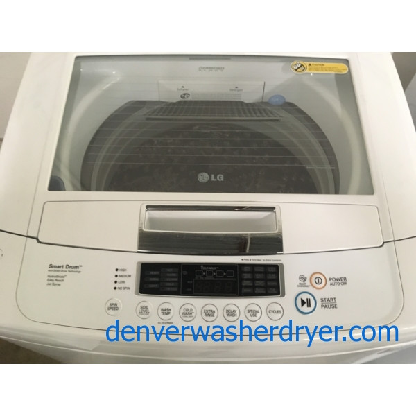 Lovely LG, Top-Load Washer, Direct-Drive, HE, Energy-Star, Quality Refurbished, 1-Year Warranty!
