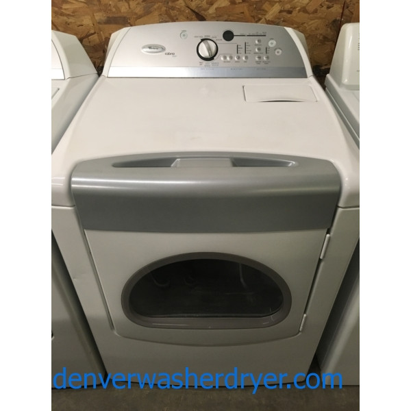 Wonderful Whirlpool Cabrio Steam Dryer, 29″, 220V, Quality Refurbished, 1-Year Warranty!