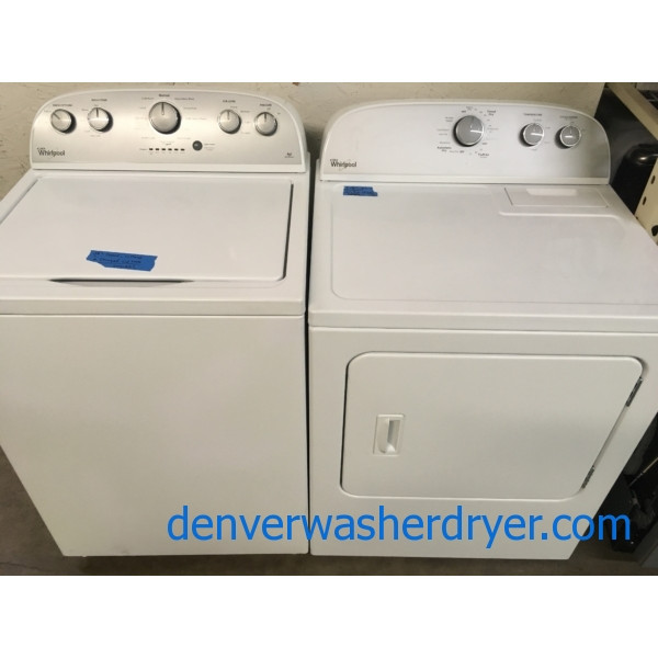 Whirlpool Top-Load He Washer, 29: Electric Dryer, 1-Year Warranty