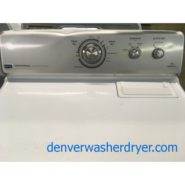 Mighty Maytag Dryer, Commercial Tech., HE, 29″ Wide, Capacity 7.0 Cu.Ft., Quality Refurbished, 1-Year Warranty!