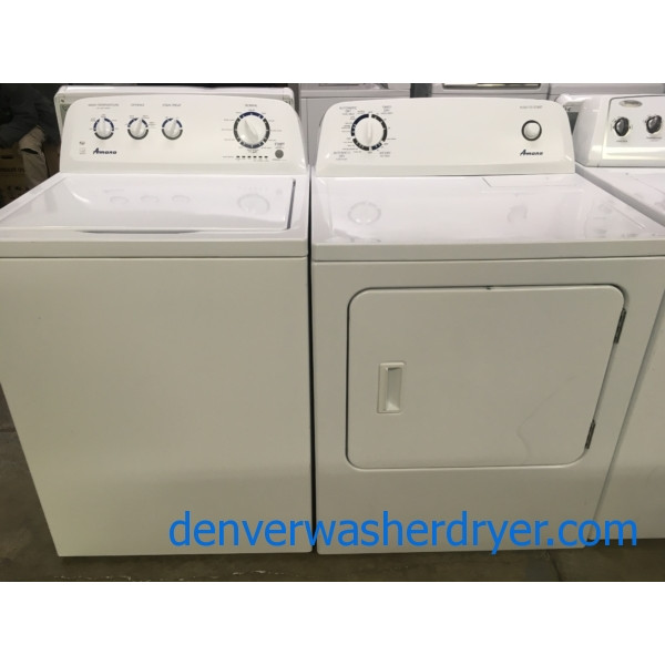 Amana Washer and Dryer Set, HE, 220V, Wash Plate Style, 29″ Wide, Quality Refurbished, 1-Year Warranty!