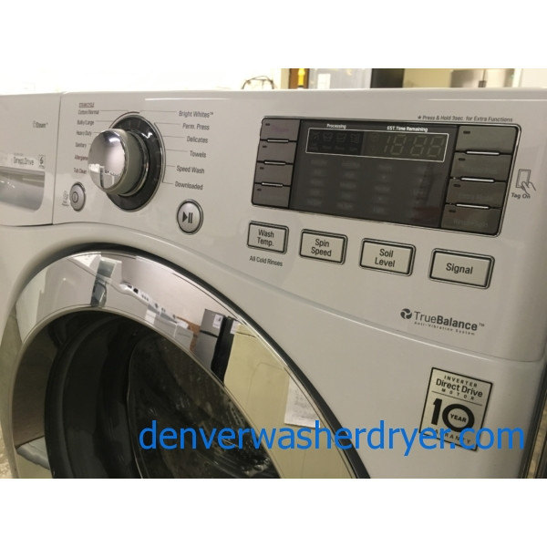NEW! Great LG Front-Load Washer, White, HE, Energy-Star, Capacity 4.5 Cu.Ft., 1-Year Warranty!