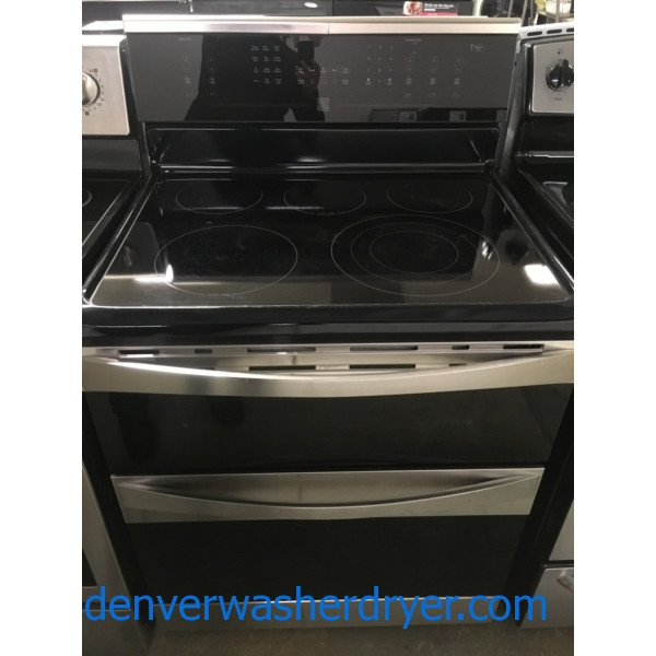 Free-Standing Kenmore ELITE Range, Double-Oven, Convection, Glass-Top, 30″ Wide, Quality Refurbished, 1-Year Warranty!
