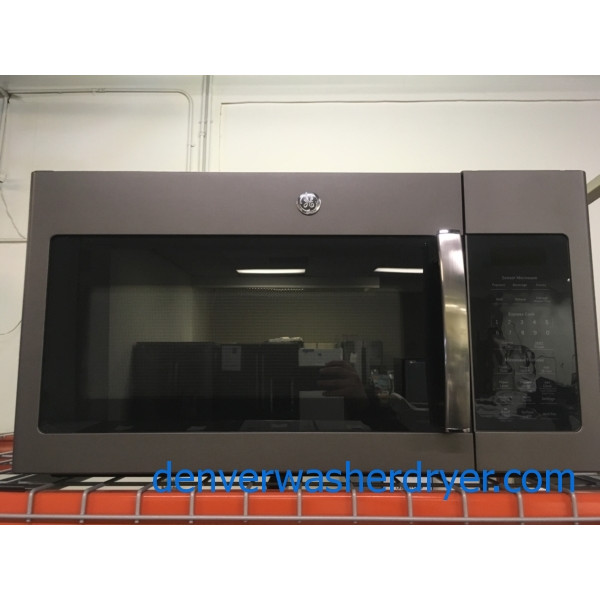 NEW!! Great GE Over the Range Microwave, Slate, Capacity 1.7 Cu.Ft., 1-Year Warranty!