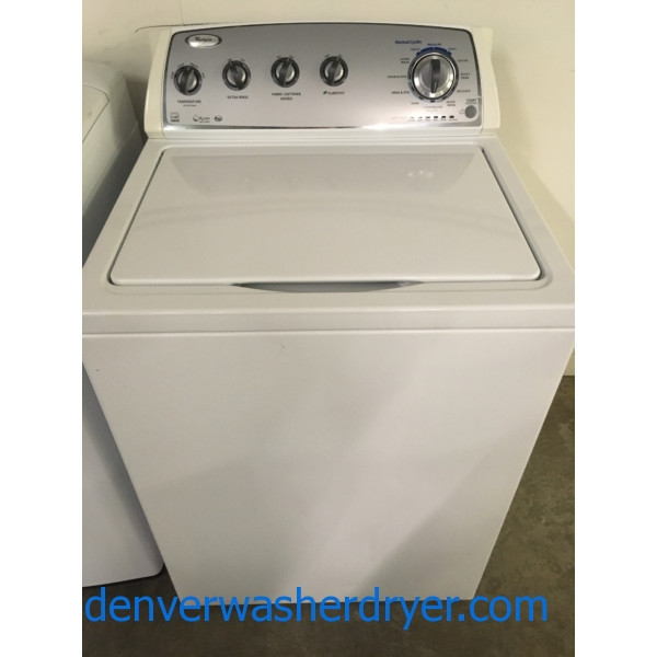 Wonderful Whirlpool Washer, Eco-Boost, HE, Energy-Star, Quality Refurbished, Wash Plate Style, 1-Year Warranty!