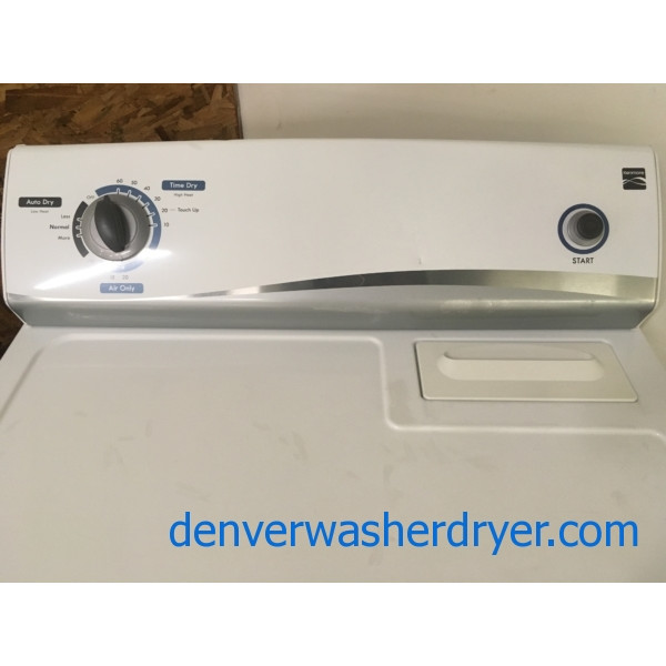 "Great Kenmore Dryer, ""Flat-Back"", 29″ Wide, Capacity 6.0 Cu. Ft., Quality Refurbished, 1-Year Warranty!"