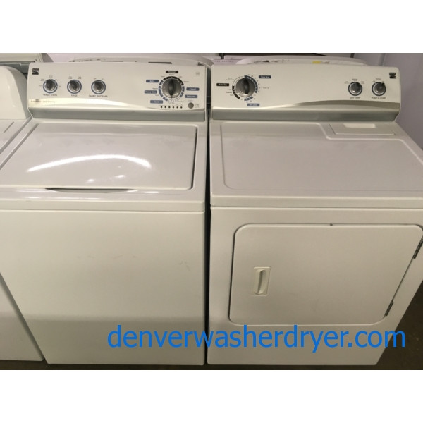 Awesome Kenmore Set, Electric, HE, Energy-Star, Agitator, Quality Refurbished, 1-Year Warranty!
