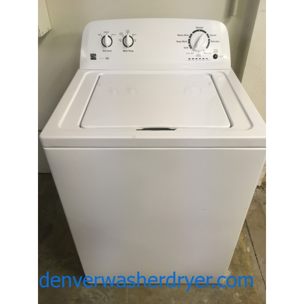 Great Kenmore Series 100 Washer, HE, Agitator, Quality Refurbished, 1-Year Warranty!