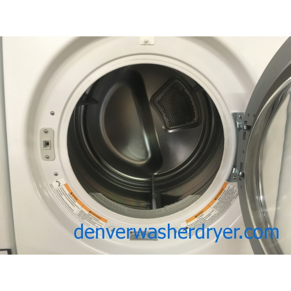 Front-Load LG TROMM Dryer, GAS, White, Ultra Capacity, Anti-Bacterial, Quality Refurbished, 1-Year Warranty!