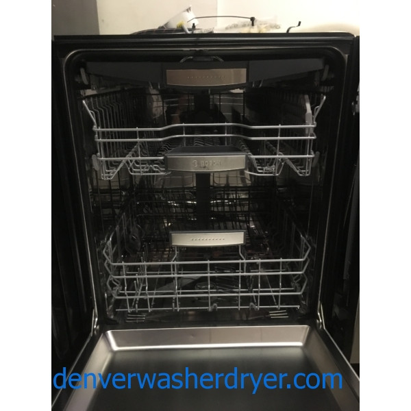 New! BOSCH 800 Series Dishwasher, SilencePlus, 24″ Tall, Stainless, Built-In, 6-Month Warranty!