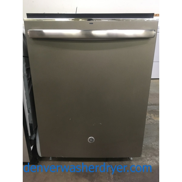 NEW!! GE Dishwasher, Fingerprint Resistant Slate, Built-In, 3 Racks, Stainless Tub, Auto-Sense, 1-Year Warranty!
