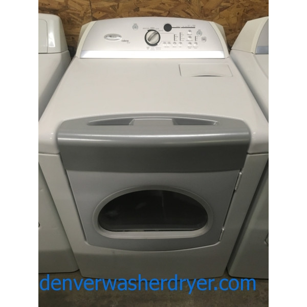 Great Whirlpool Cabrio Steam Dryer, Electric, Wrinkle Shield, 29″ Wide, Quality Refurbished, 1-Year Warranty!