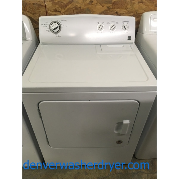 Nice Kenmore 500 Series Dryer, Electric, 29″ Wide, Moisture Sensing, Quality Refurbished, 1-Year Warranty!