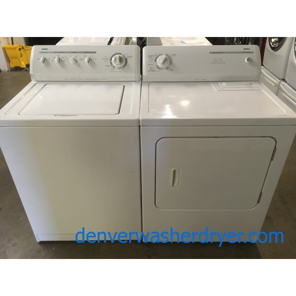 Nice Kenmore 80 Series Set, Electric, Agitator, 29″ Wide,  Super Capacity, Quality Refurbished, 1-Year Warranty!