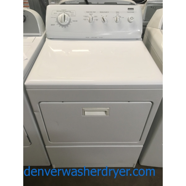 Kenmore ELITE Dryer, King Size Capacity, Heavy-Duty, 220V, Wrinkle Guard Feature, Quality Refurbished, 1-Year Warranty!