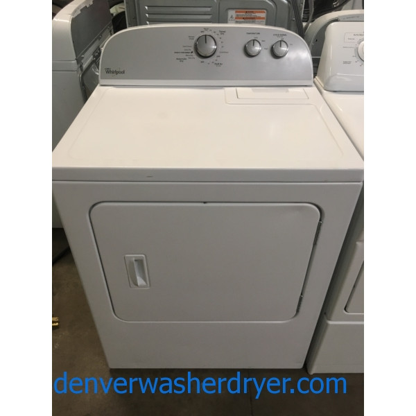 Lovely Whirlpool Dryer, Electric, 29″ Wide, Wrinkle Shield, Quality Refurbished, 1-Year Warranty!