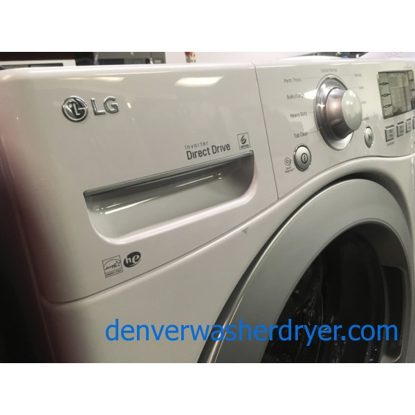 NEW! LG Washer, Direct Drive, White, HE, Fresh Care Feature, Energy-Star Rated, 27″ Wide, 1-Year Warranty!