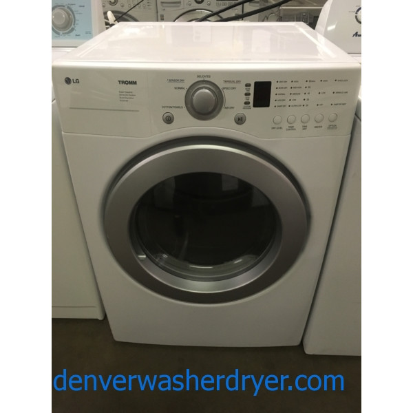 Great LG TROMM Dryer, 220V, Stackable, Sense Dry, Wrinkle Care, Quality Refurbished, 1-Year Warranty!