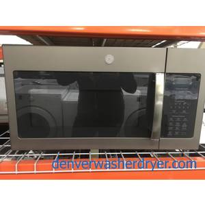 NEW! GE Microwave, Slate Fingerprint Resistant, Sensor Cooking, Melt Feature, Capacity 1.7 Cu.Ft., 1-Year Warranty!