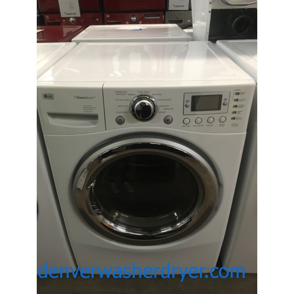 Awesome LG Ultra Capacity Dryer, Steam, Anti-Bacterial and Wrinkle Care Features, 220V, Quality Refurbished, 1-Year Warranty!