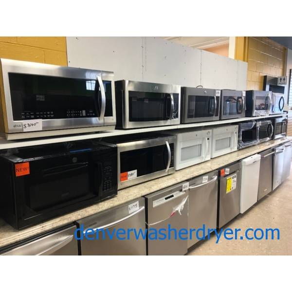 Microwaves! Over The Range, New And Used, Warrantied!