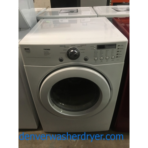 LG Ultra Capacity Set, White, 220V, Stainless Drum, Anti-Bacterial Feature, Quiet Operation, Quality Refurbished, 1-Year Warranty!