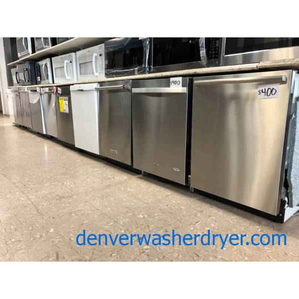 Dishwashers, 24″ Built In, Stainless, Black, White, Black Stainless, New and Used!