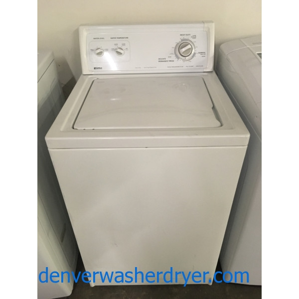 Heavy-Duty Kenmore Washer, Direct Drive, 24″ Wide, Agitator, Quality Refurbished, 1-Year Warranty!