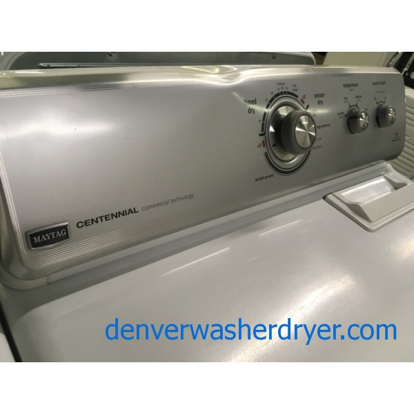 Mighty Maytag Commercial Tech. Set, Heavy-Duty, Electric, Agitator, HE, 29″ Wide Dryer, Quality Refurbished, 1-Year Warranty!