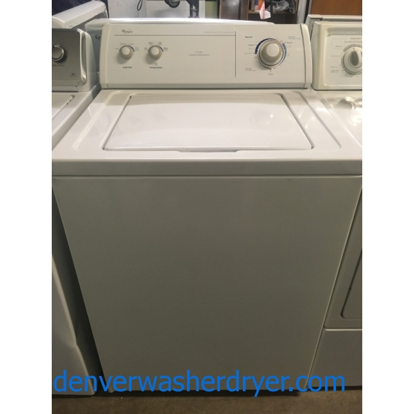 Great Whirlpool Washer, Commercial Quality, Agitator, XL Capacity, Direct Drive, Quality Refurbished, 1-Year Warranty!