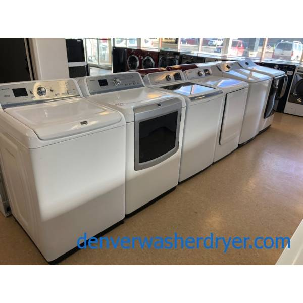 Top Load Washer Dryer Sets, Direct-Drive, HE, Gas, Every Option! New and Used