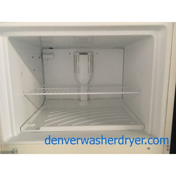 Great Whirlpool Bisque Refrigerator, Top-Mount, Capacity 18.0 Cu.Ft., Quality Refurbished, 1-Year Warranty!