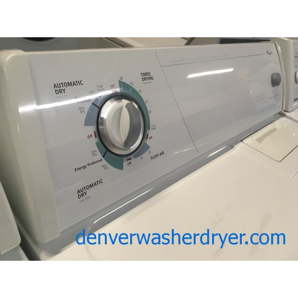 Whirlpool Washer and Dryer Set, Electric, Agitator, Quality Refurbished, 1-Year Warranty!