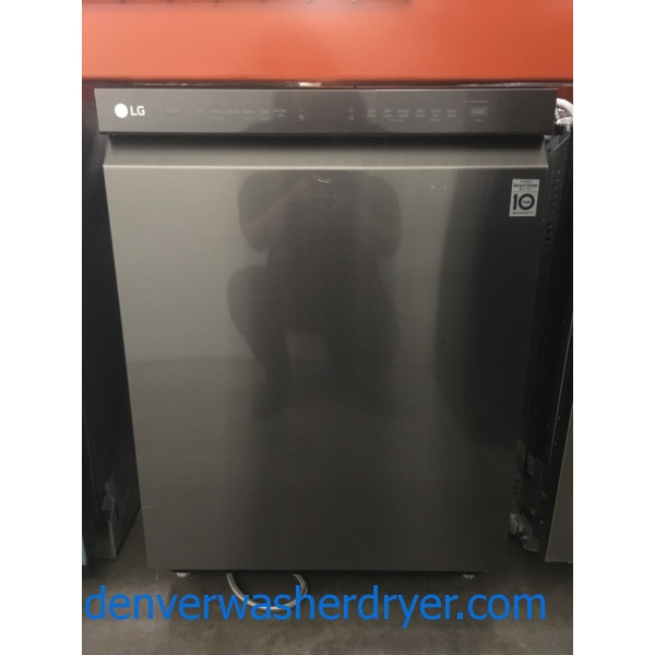 Great LG Dishwasher, Black Stainless, Built-In, Sensor Clean, Download Cycle, Quality Refurbished, 1-Year Warranty!
